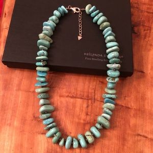 Silpada Sterling Silver Turquoise Brass  Necklace